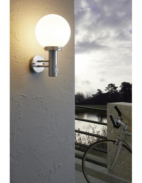 EGLO 27126 - NISIA Lámpara de pared en Acero inoxidable y Vidrio