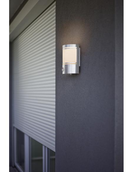 EGLO 30192 - CERNO Lámpara de pared en Acero inoxidable y Vidrio satinado