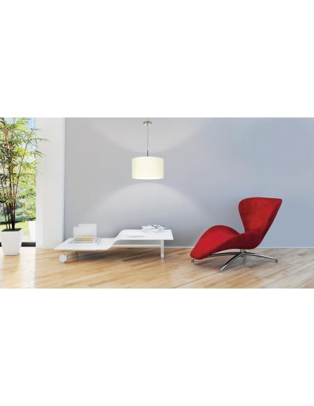 EGLO 31571 - PASTERI Lámpara colgante en Acero y Textil