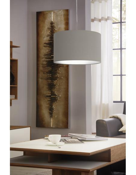 EGLO 31572 - PASTERI Lámpara colgante en Acero y Textil
