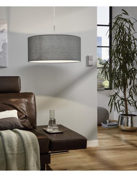 EGLO 31577 - PASTERI Lámpara colgante en Acero y Textil