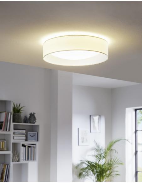 EGLO 31588 - PASTERI Lámpara de techo en Acrílico, acero y Textil