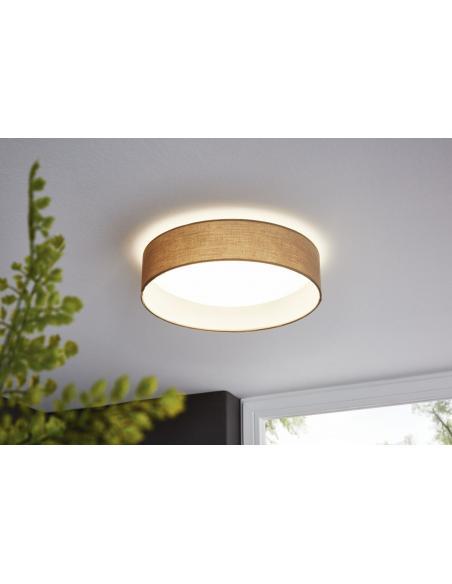 EGLO 31589 - PASTERI Lámpara de techo en Acrílico, acero y Textil