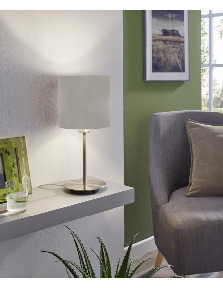 EGLO 31595 - PASTERI Lámpara de mesa en Acero y Textil