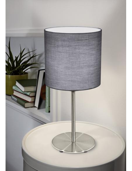 EGLO 31596 - PASTERI Lámpara de mesa en Acero y Textil