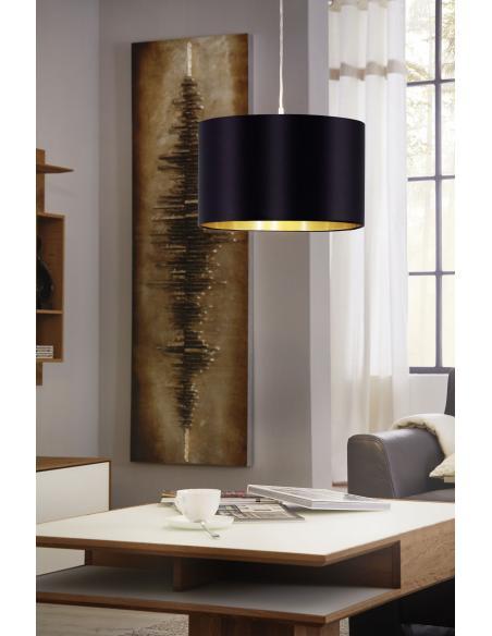 EGLO 31599 - MASERLO Lámpara colgante en Acero y Textil