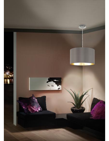 EGLO 31603 - MASERLO Lámpara colgante en Acero y Textil
