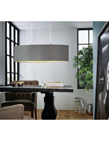 EGLO 31614 - MASERLO Lámpara colgante en Acero y Textil
