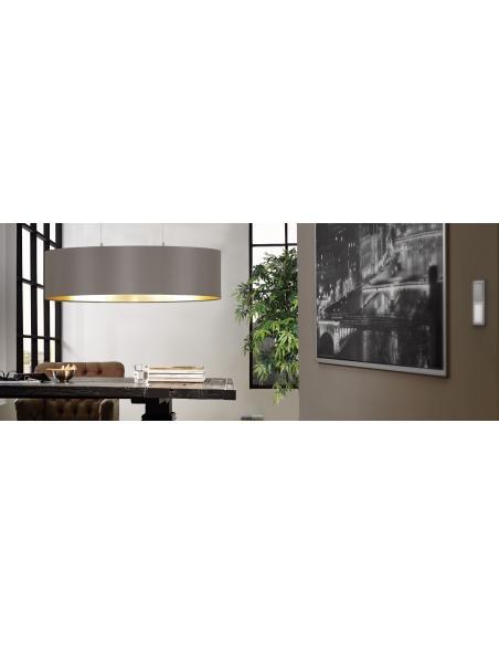 EGLO 31619 - MASERLO Lámpara colgante en Acero y Textil