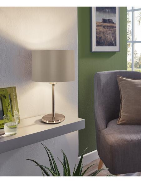EGLO 31629 - MASERLO Lámpara de mesa en Acero y Textil