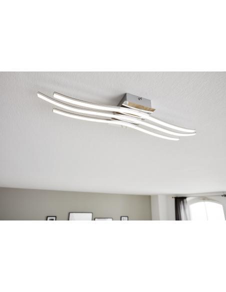 EGLO 31995 - RONCADE Lámpara de pared / techo en Aluminio, acero y Acrílico