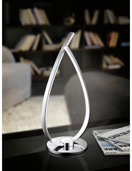 EGLO 31997 - RONCADE Lámpara de mesa en Aluminio, acero y Acrílico