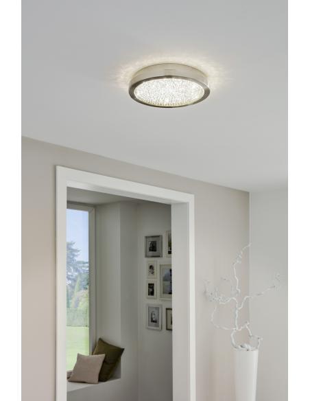 EGLO 32047 - AREZZO 2 Lámpara de techo en Acero y Vidrio, cristal