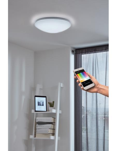 EGLO 32589 - GIRON-C Lámpara de pared / techo en Acero y Acrílico