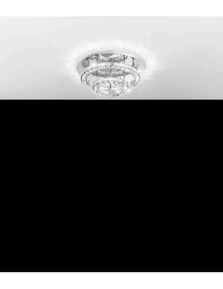 EGLO 39003 - TONERIA Lámpara de techo en Acero inoxidable y Cristal