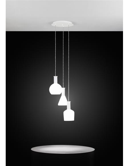 EGLO 39142 - PASCOA Lámpara colgante en Acero y Vidrio opalino