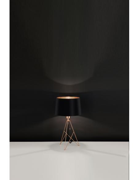 EGLO 39178 - CAMPORALE Lámpara de mesa en Acero y Textil