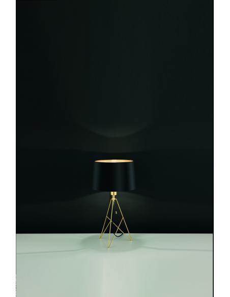 EGLO 39179 - CAMPORALE Lámpara de mesa en Acero y Textil
