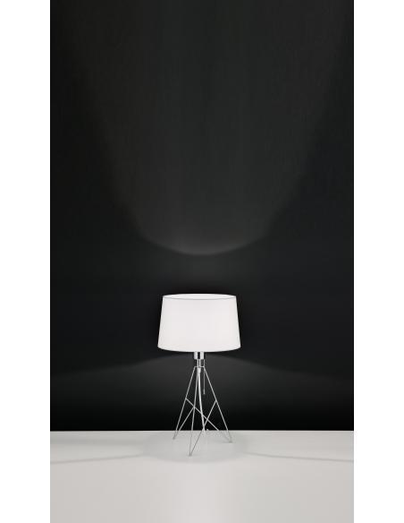 EGLO 39181 - CAMPORALE Lámpara de mesa en Acero y Textil