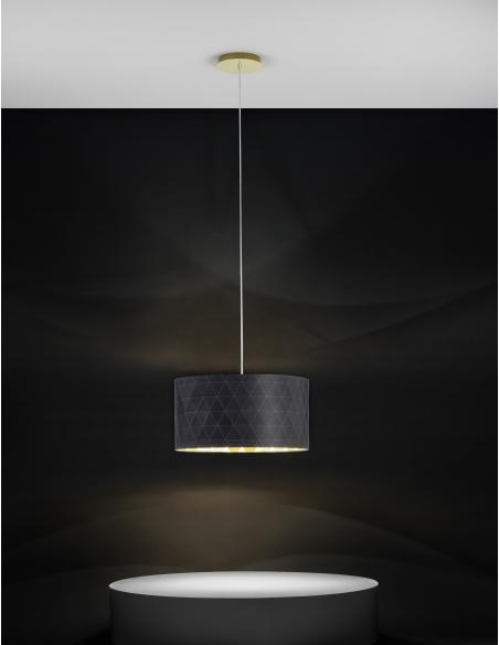 EGLO 39224 - DOLORITA Lámpara colgante en Acero y Textil