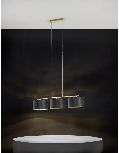 EGLO 39225 - DOLORITA Lámpara colgante en Acero y Textil