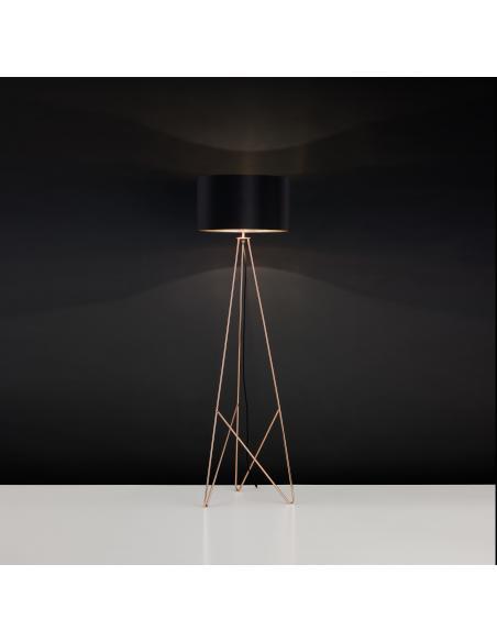 EGLO 39229 - CAMPORALE Lámpara de pie en Acero y Textil