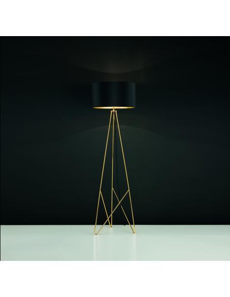 EGLO 39231 - CAMPORALE Lámpara de pie en Acero y Textil