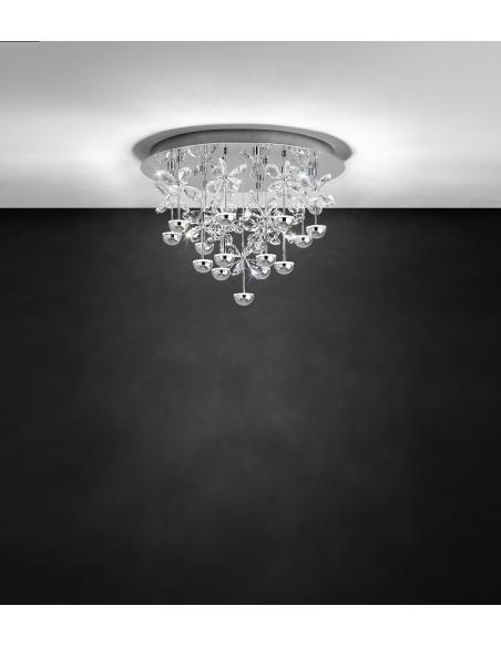 EGLO 39245 - PIANOPOLI Lámpara de techo en Acero inoxidable y Cristal
