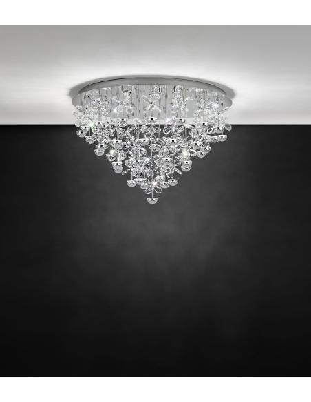 EGLO 39246 - PIANOPOLI Lámpara de techo en Acero inoxidable y Cristal