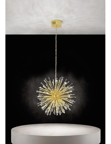 EGLO 39255 - VIVALDO 1 Lámpara colgante en Acero y Cristal