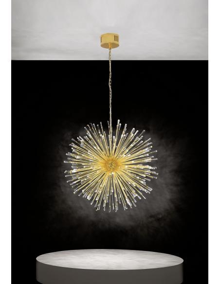 EGLO 39256 - VIVALDO 1 Lámpara colgante en Acero y Cristal