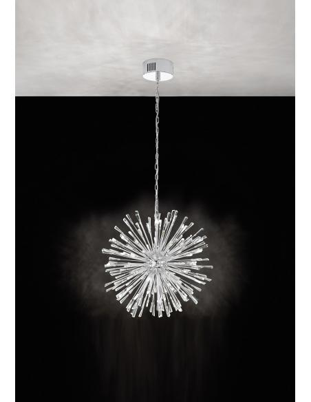 EGLO 39261 - VIVALDO 1 Lámpara colgante en Acero y Cristal