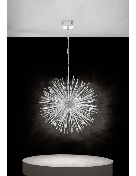 EGLO 39262 - VIVALDO 1 Lámpara colgante en Acero y Cristal