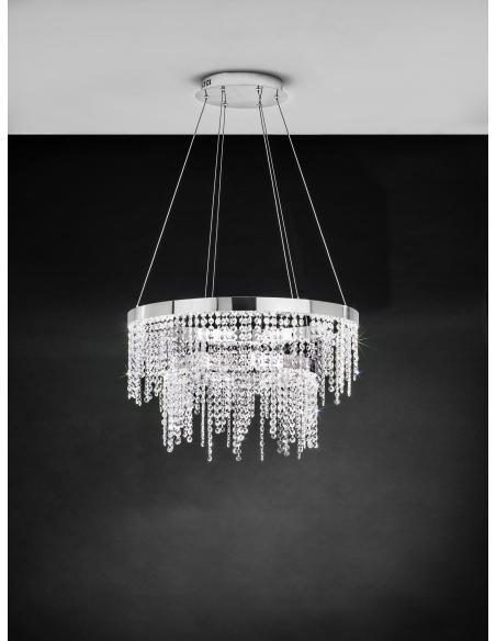 EGLO 39281 - ANTELAO Lámpara colgante en Acero y Cristal