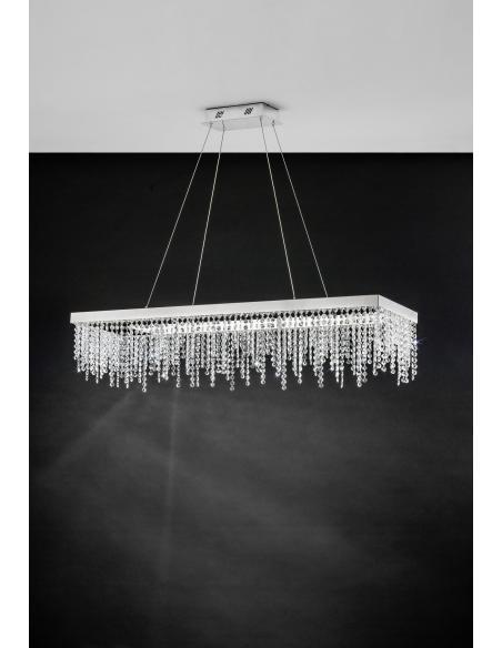 EGLO 39283 - ANTELAO Lámpara colgante en Acero y Cristal