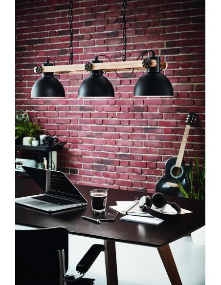 EGLO 43163 - LUBENHAM Lámpara colgante en Acero, madera