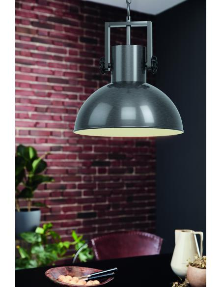 EGLO 43167 - LUBENHAM 1 Lámpara colgante en Acero