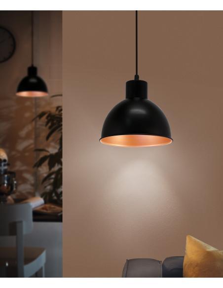 EGLO 49238 - TRURO 1 Lámpara colgante en Acero
