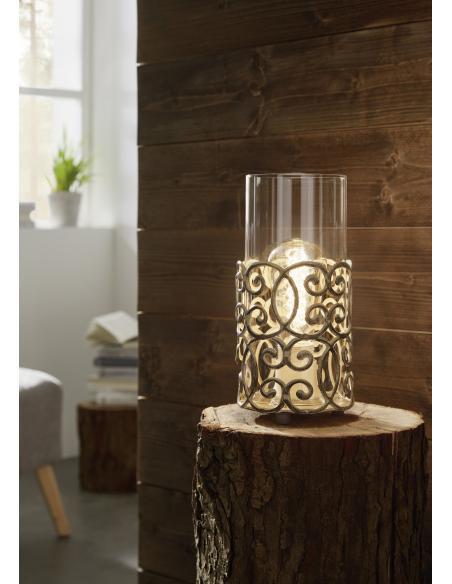 EGLO 49274 - CARDIGAN Lámpara de mesa en Acero y Vidrio
