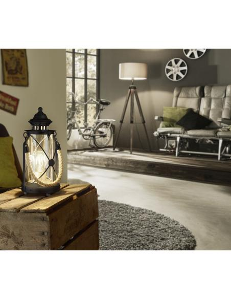 EGLO 49283 - BRADFORD Lámpara de mesa en Acero y Vidrio