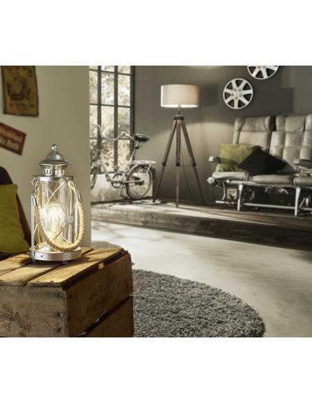 EGLO 49284 - BRADFORD Lámpara de mesa en Acero y Vidrio