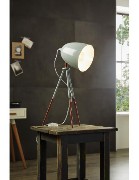 EGLO 49337 - DUNDEE Lámpara de mesa en Acero