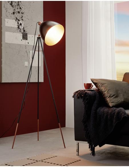 EGLO 49386 - CHESTER Lámpara de pie en Acero