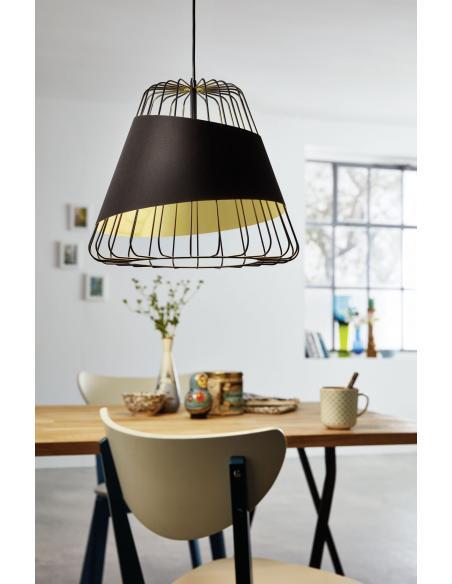 EGLO 49509 - AUSTELL Lámpara colgante en Acero y Acero, textil