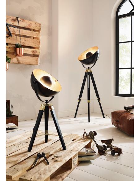 EGLO 49617 - COVALEDA Lámpara de mesa en Madera, acero