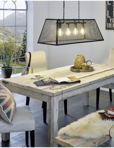 EGLO 49799 - AMESBURY Lámpara colgante en Acero