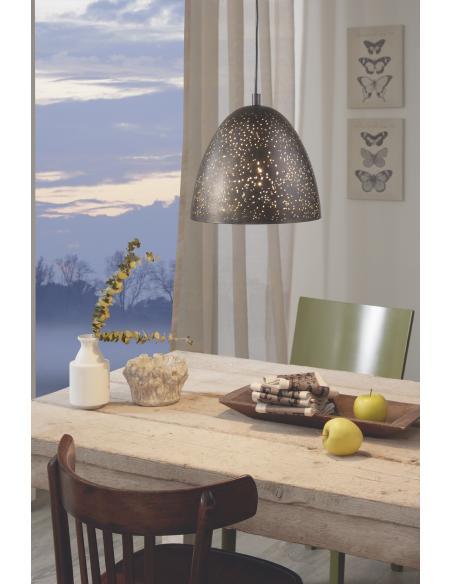 EGLO 49814 - SAFI Lámpara colgante en Acero