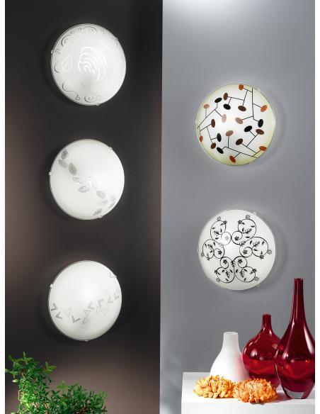 EGLO 80263 - MARS Lámpara de pared / techo en Acero y Vidrio satinado