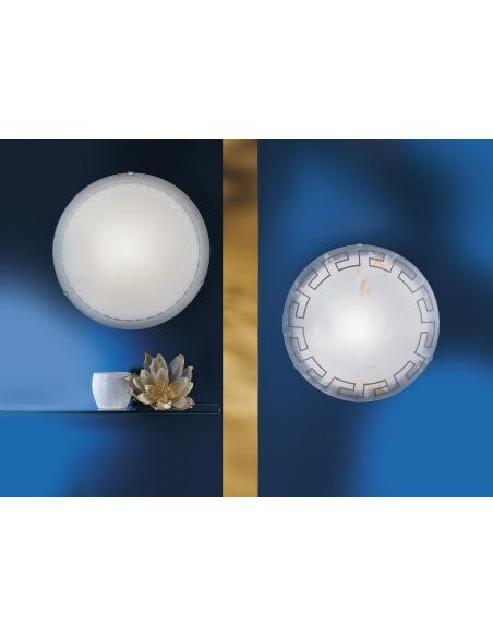 EGLO 80265 - MARS Lámpara de pared / techo en Acero y Vidrio satinado