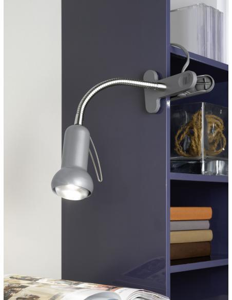 EGLO 81265 - FABIO Lámpara de pinza en Acero, acrílico